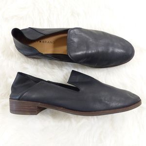 Lucky Brand Cahill Crashback Black Leather Flats